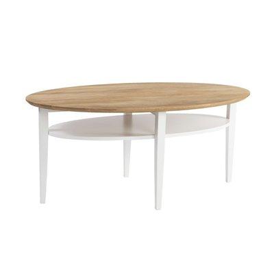 Lexington 130 soffbord - Naturligt trä/Vit