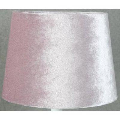 Velvet lampskärm 20 cm - Rosa