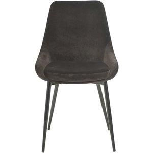 Ekestad stol - Mörkbrun velour