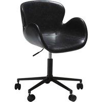 Gaia kontorsstol - Vintage svart