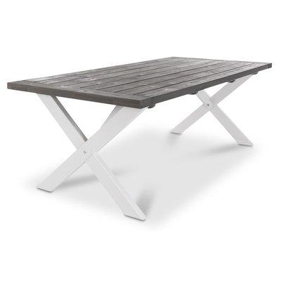 Matbord Oxford 220 cm - Vit/Grå