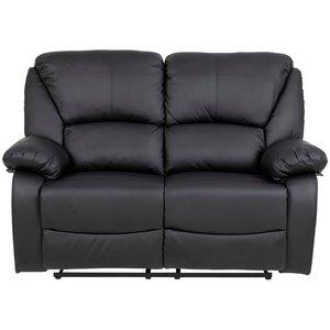 Peoria reclinersoffa 2 sits - Svart