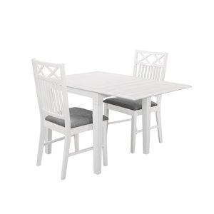 Sandhamn matgrupp - Bord inklusive 2 st stolar - Vit