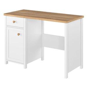 Eldon skrivbord - Vit/ek