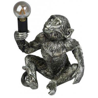 Monkey (sittande) Bordslampa H40 - Silver