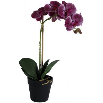 Konstväxt - Orkidé 1 stänglad H48 cm - Mörkrosa