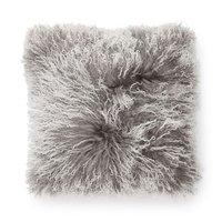 Shansi kuddfodral fårskinn - Grå/vit