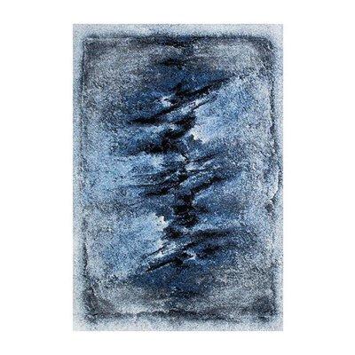 Maskinvävd matta Flavio - Blå