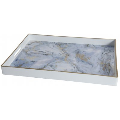 Marmor serveringsbricka - Ljus marmor