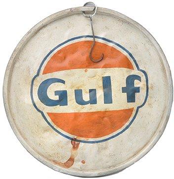 Oljefatslock vintage Ø58 cm - Gulf