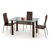 Hazel bord - Mörkbrunt PVC