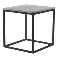 Accent soffbord 50 - Vit marmor / svart underrede