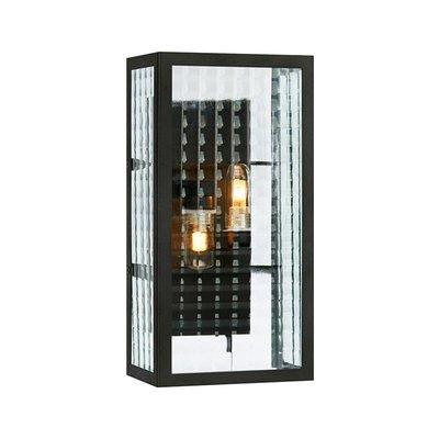 Fulham Vägglampa - Svart/Klarglas