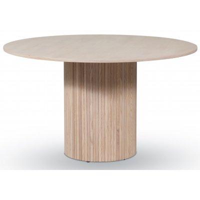Pose matbord Ø130 cm - Whitewash ek