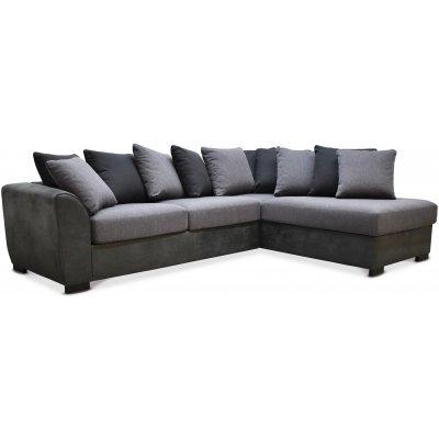 Delux soffa med öppet avslut höger - Grå/Antracit/Vintage