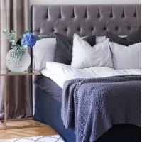 Nord sänggavel med knappar - Valfri storlek / färg