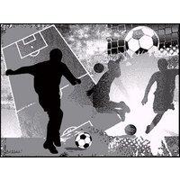 Barnmatta Fotboll - Grå
