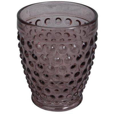 Bubbel drinkglas (lavendeltonat glas) 400ml - 6-pack