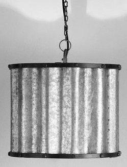 Vintage plåtlampa - Olsson & Jensen