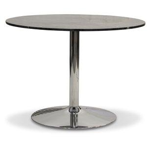 Plaza runt matbord - Grå marmor / Krom
