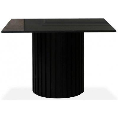 Sumo matbord 90x90cm - Svartbets / Svart granit