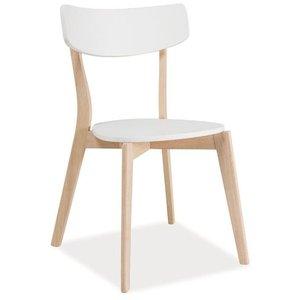 Salma stol - Vit/ek