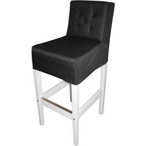 Brixton barstol - Vit/svart