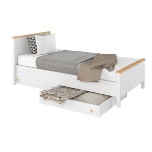 Eldon säng 100x200 cm - Vit/ek