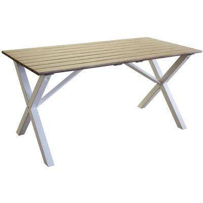 Scottsdale matbord 150 cm - Vit / Shabby Chic