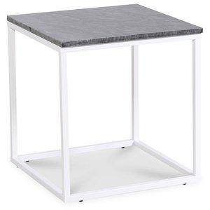 Accent lampbord 50x50 cm - Grå marmor / Vit & 1390.00