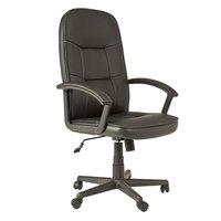 Detroit skrivbordsstol - svart PU/beige söm