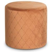 Check cylinderformad sittpuff - Orange Sammet