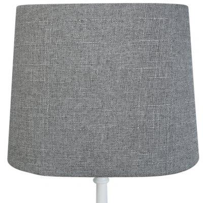 Oval lampskärm 27x18 cm - Grå (grovt linne)