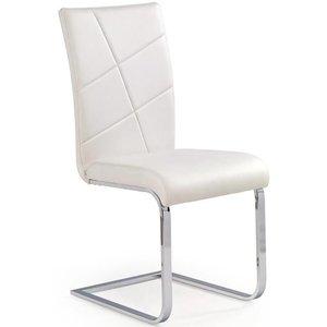 Amber stol - Vit (PU) / Krom