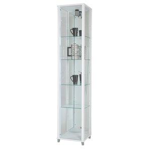 Optima vitrin & glasskåp - vitt (med spegelbakstycke)