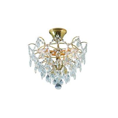 Rosendal Kristallplafond 3 - Guld/Kristall