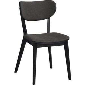 Camila stol - Svart ek/grå