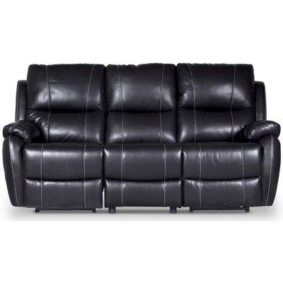 Enjoy Chicago reclinersoffa (Biosoffa) - 3-sits (el) i svart konstläder