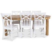Dalarö matgrupp Ovalt bord ek + 6 st Mellby stolar