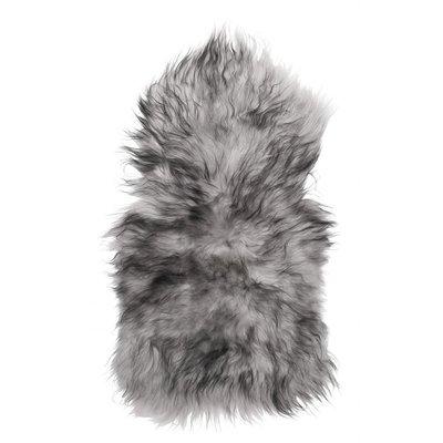 Molly fårskinn - Ljusgrå/svart