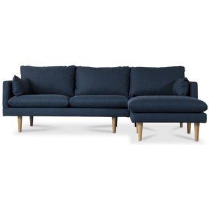 Kleo 2-sits soffa med öppet avslut höger - Mörkblå