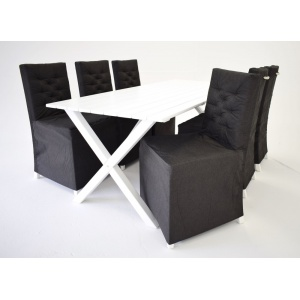 Matgrupp Brixton: Bord inklusive 6 st stolar