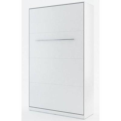 Sängskåp compact living Vertikalt (120x200 cm fällbar säng) - Vit (Matt)