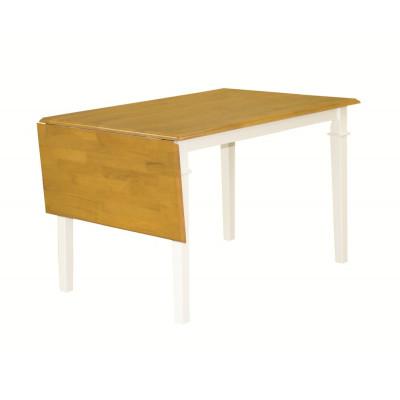 Åminne klaffbord 120-160 cm - Vit/ekbets