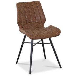 Unique matstol i vintage konstläder - Brun