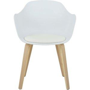 Fjälkestad stol - Vit/ek