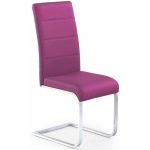 Macy stol - lila (PU) / Krom