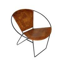 Varberg stol - Metall/läder