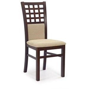 Margaret 3 stol - mörk valnöt/beige