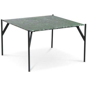 Accent soffbord 75 - Grön marmor / Svart